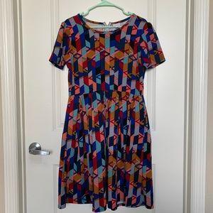 Lularoe Amelia Printed Dress- XL